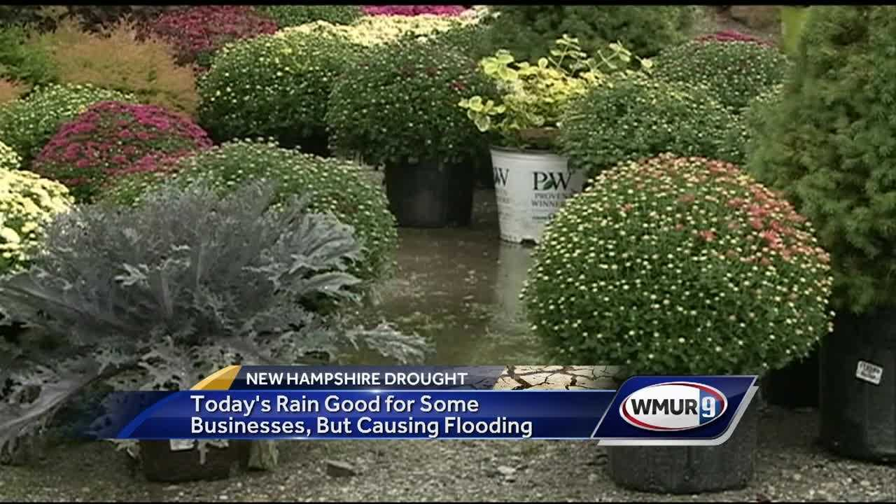 Heavy rain in southern New Hampshire provided a bit of relief for some as drought conditions continue, but it also caused some flooding.