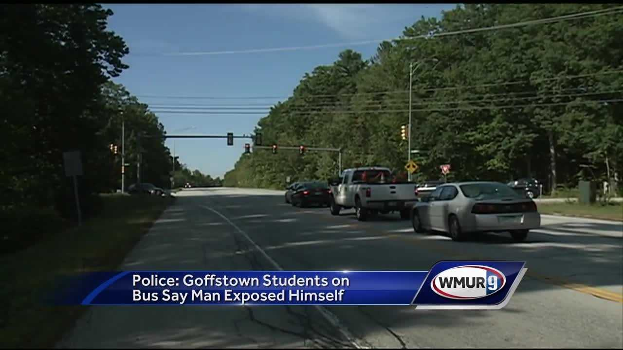 Goffstown police are investigating reports of a man exposing himself to high school students riding on a bus.