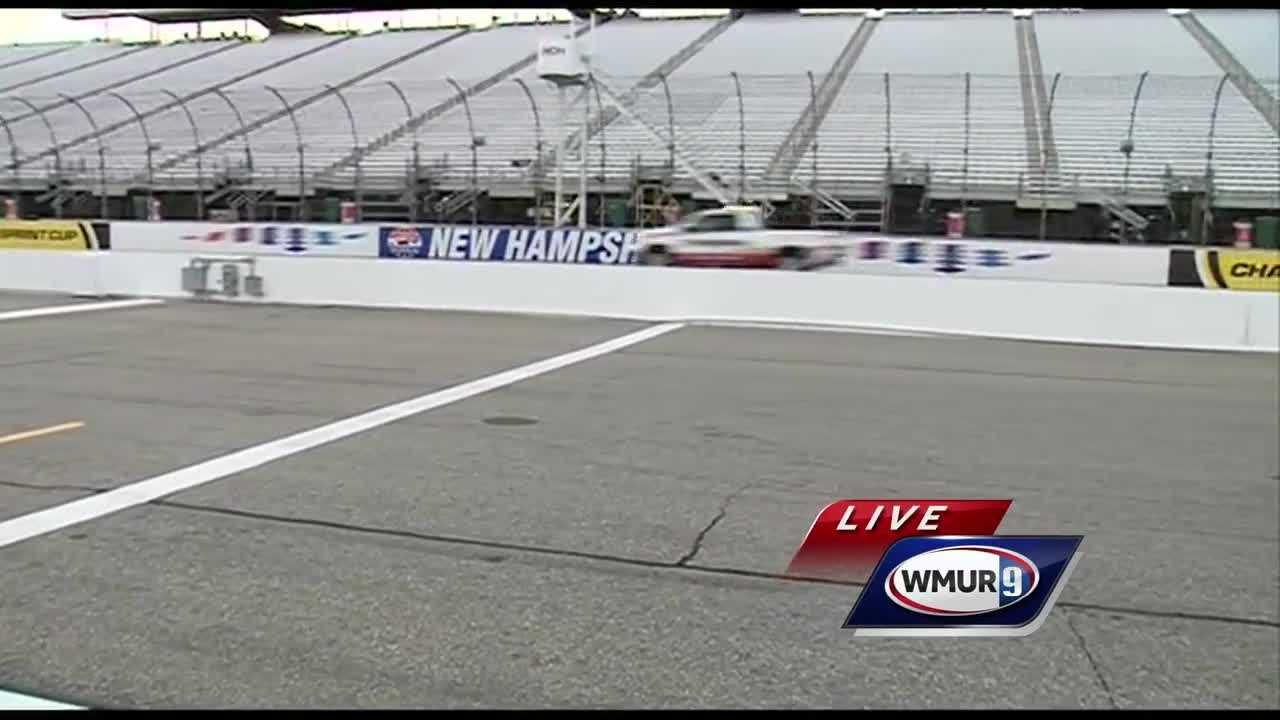 Chief Meteorologist Mike Haddad is in Loudon for the kickoff for Race Weekend.