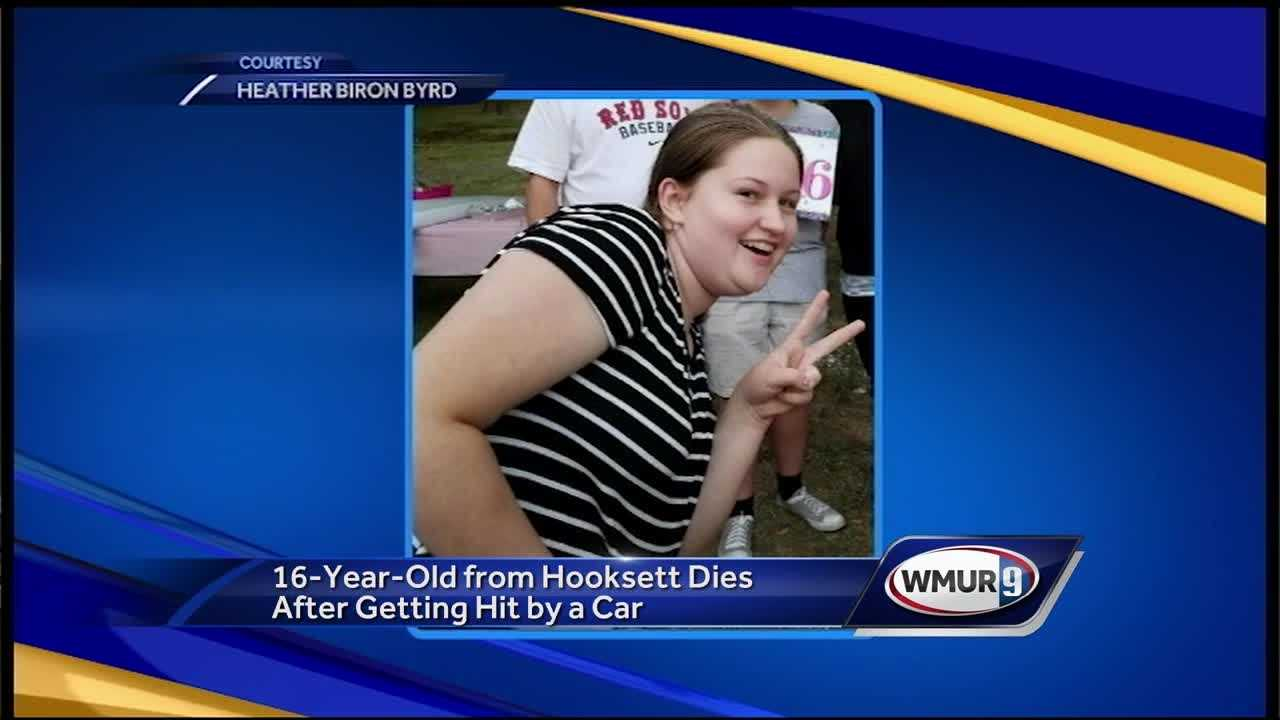 A 16-year-old Hooksett girl who was hit by a car last week has died.