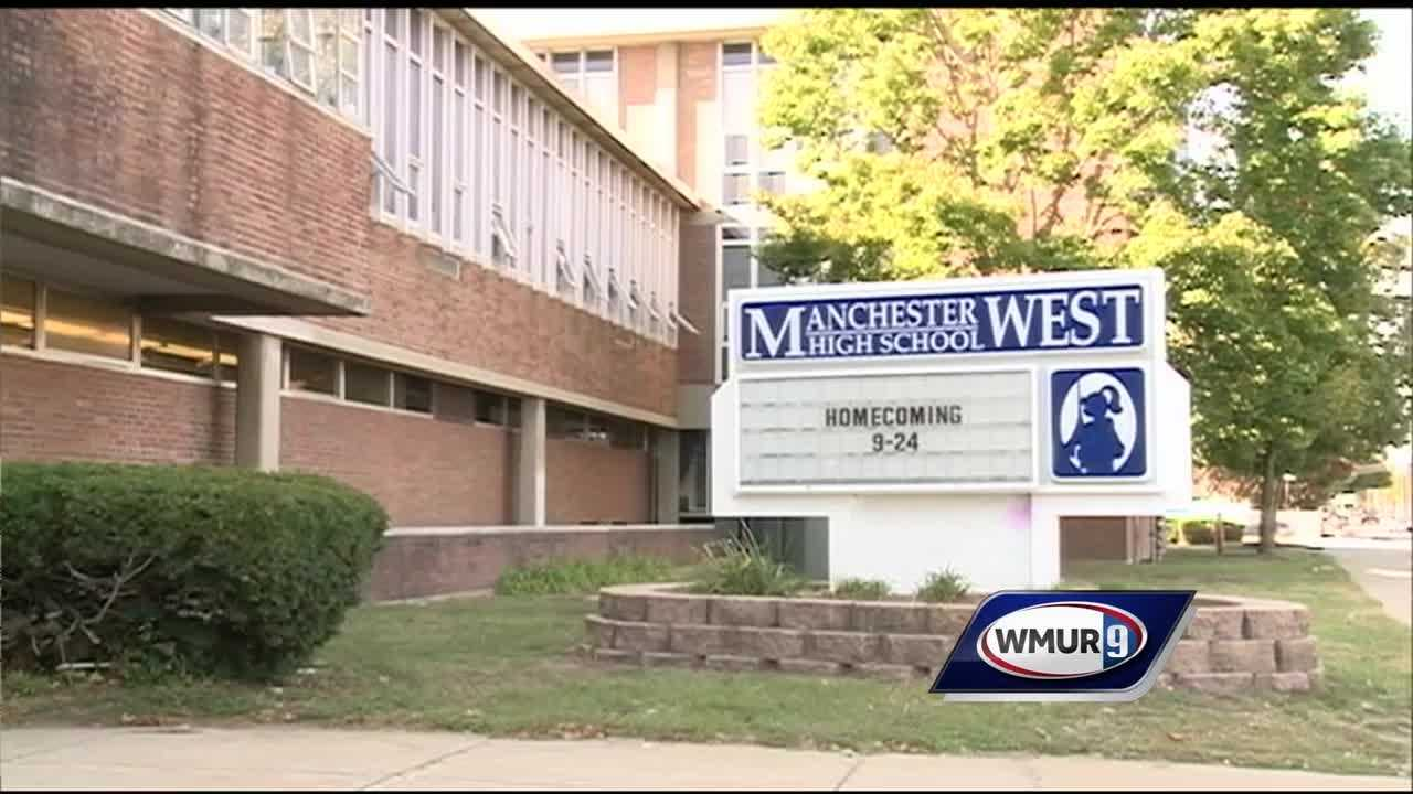 A student at Manchester High School West was found Thursday with an unloaded handgun, drugs and stolen property at the school , school officials said.