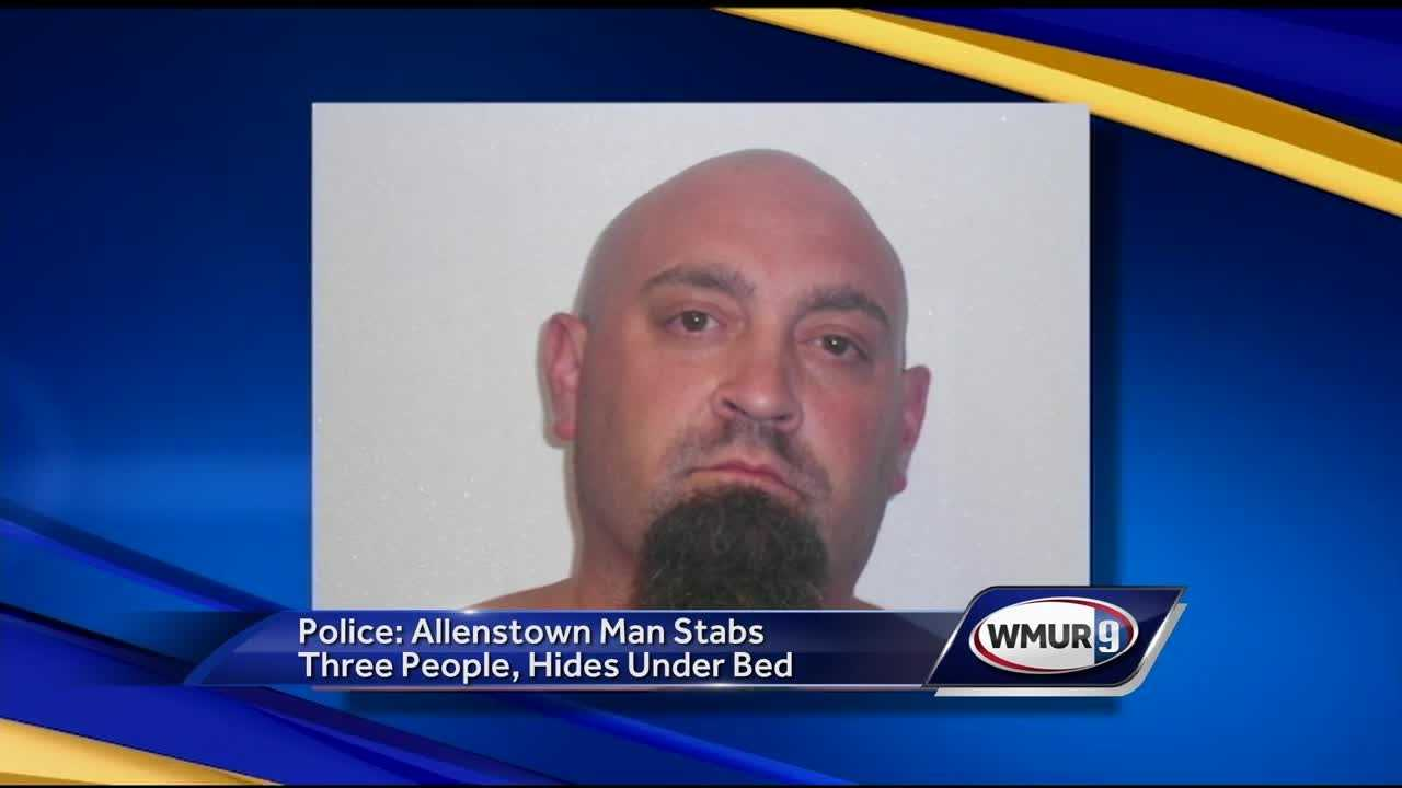 A man is facing several charges after three people were stabbed Wednesday night in Allenstown.