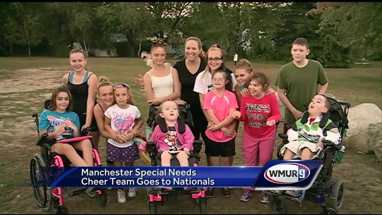 A remarkable cheerleading team from Manchester is preparing to head to a national competition – one of the first of its kind from New Hampshire, because they'll compete in the special needs division.