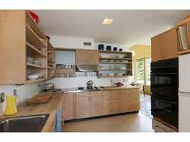 Here's a look inside the home's kitchen.