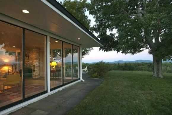 Another view of the home's glass walls.