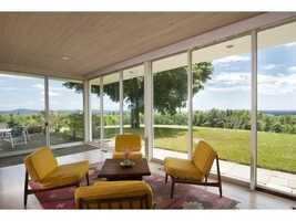 Here's another look at the living room which offers stunning views of the property.