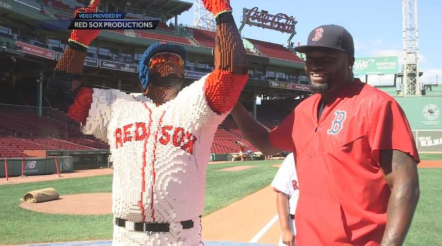 We don't know how long this took, but one of the funniest gifts Ortiz received was a statue of himself made from Lego pieces.