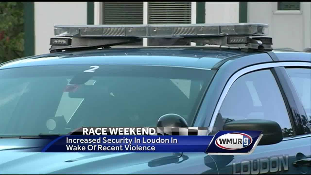 Authorities increase security at race track in wake of recent violence nationwide.