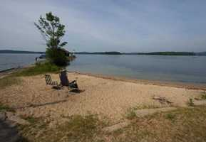 Here's a look at a private beach that's included with the lot.