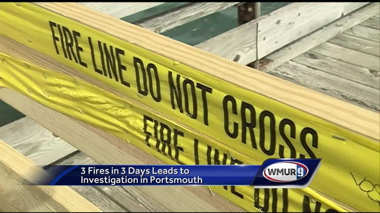 Officials in Portsmouth are asking for the public's help while they investigate whether three unexplained fires over three days are connected.