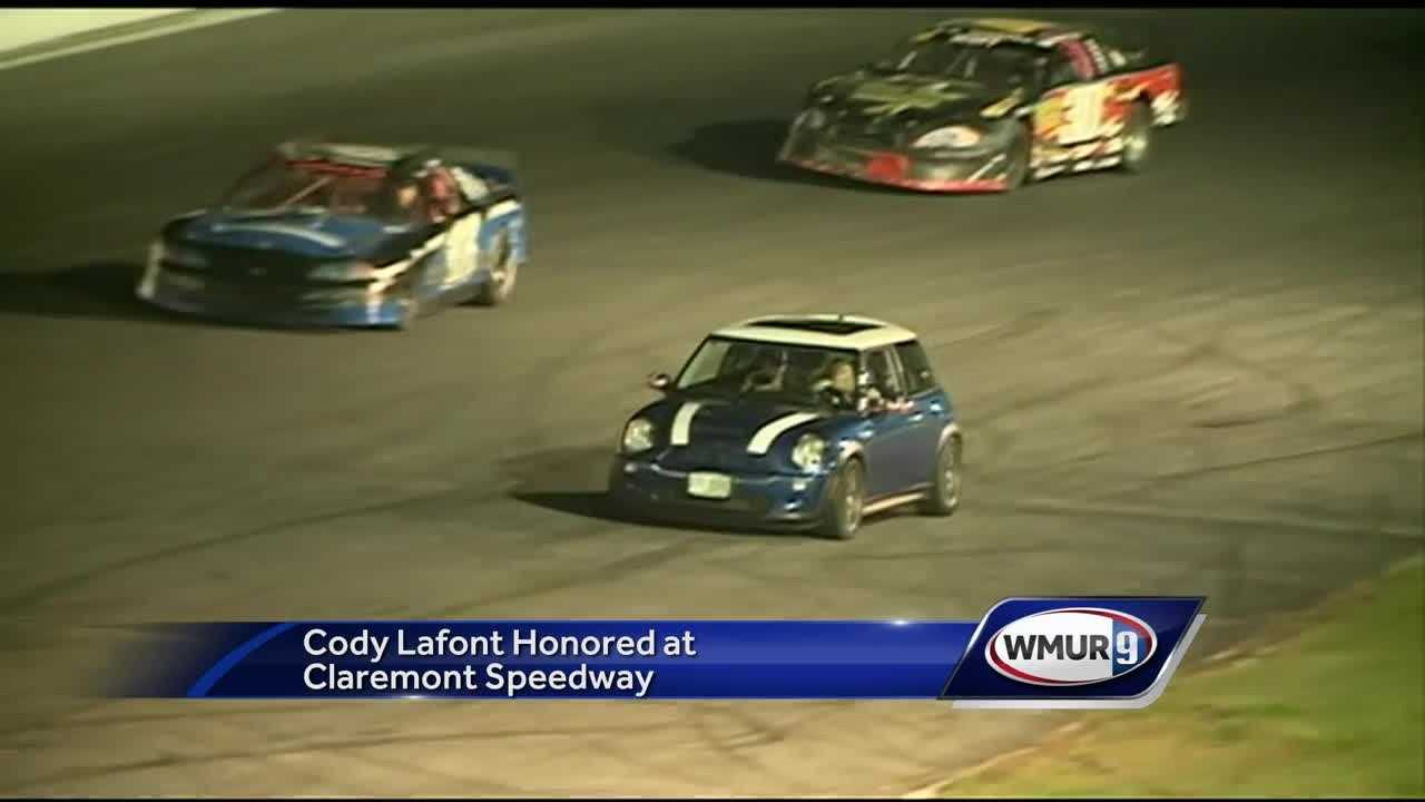 Cody LaFont was honored Friday night at the Claremont Speedway.