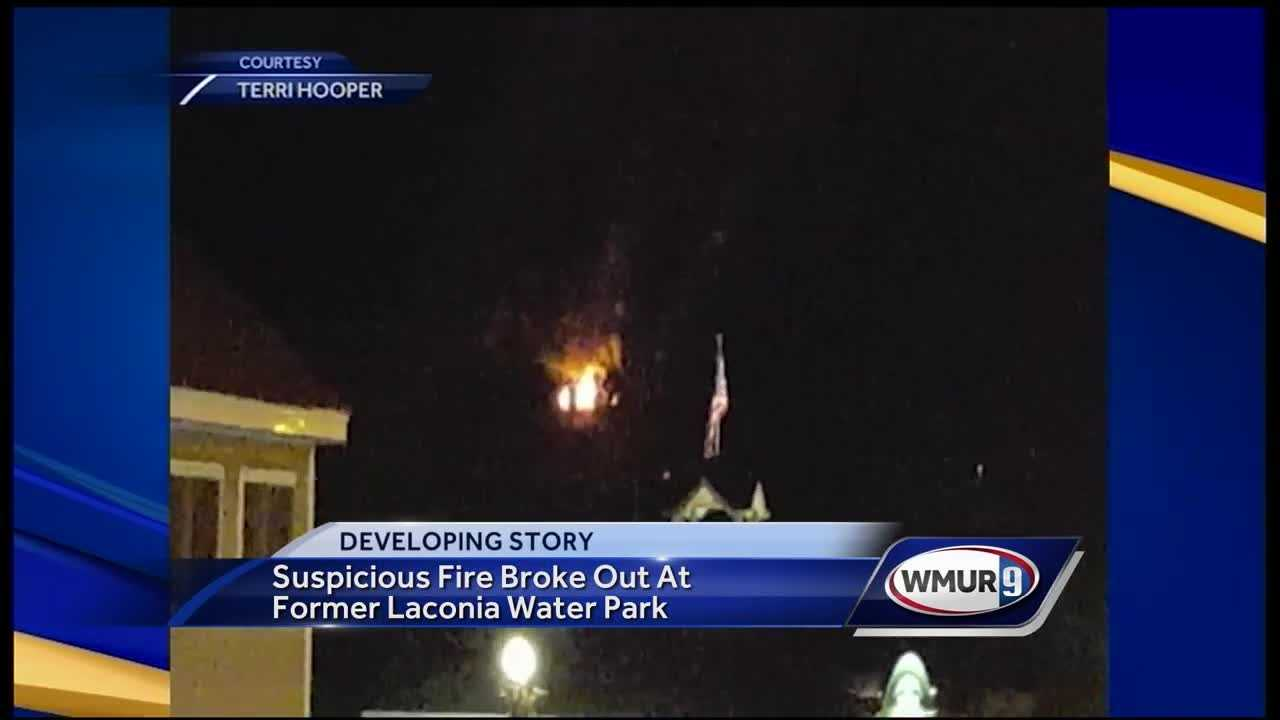 A fire broke out at a former water park in Laconia early Sunday morning.