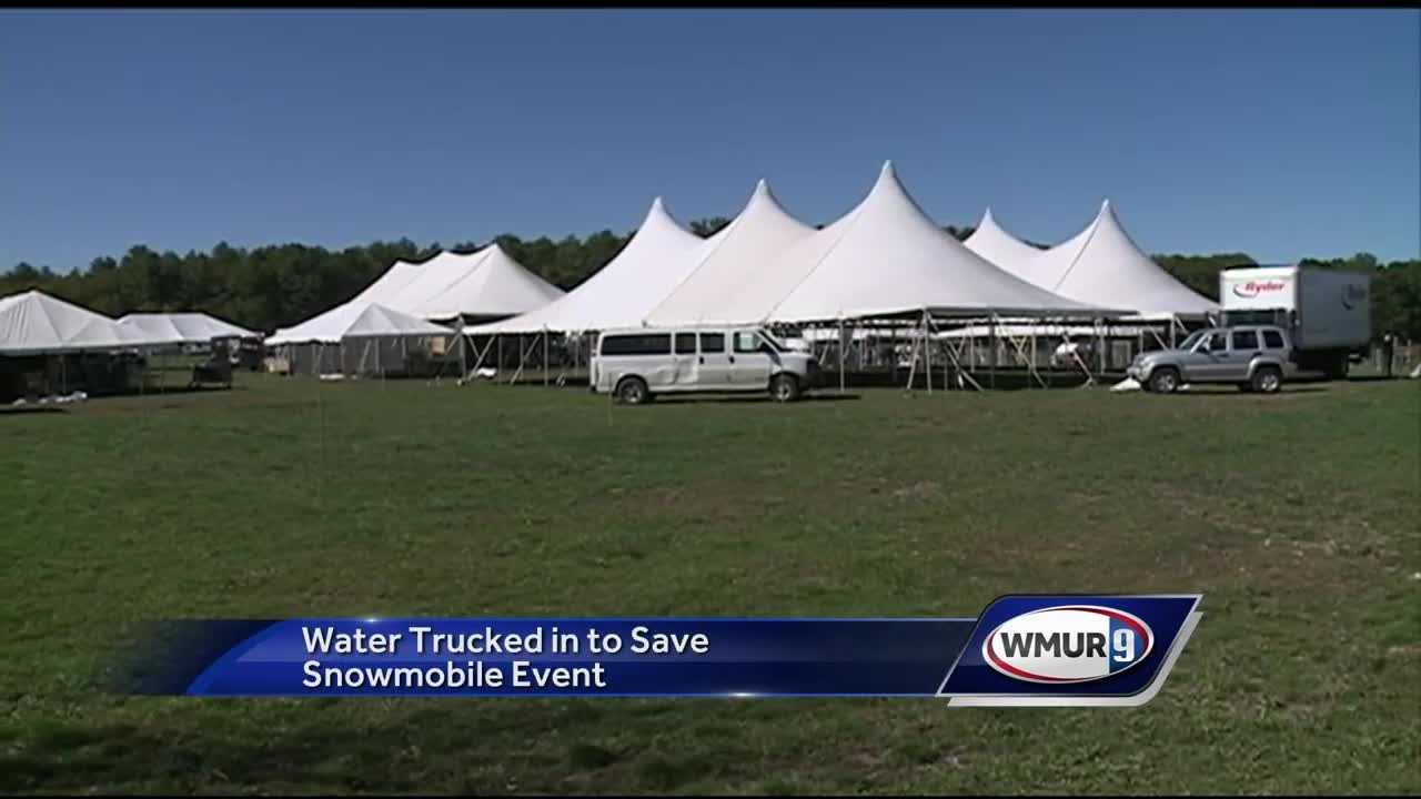 Water trucked in for snowmobile event