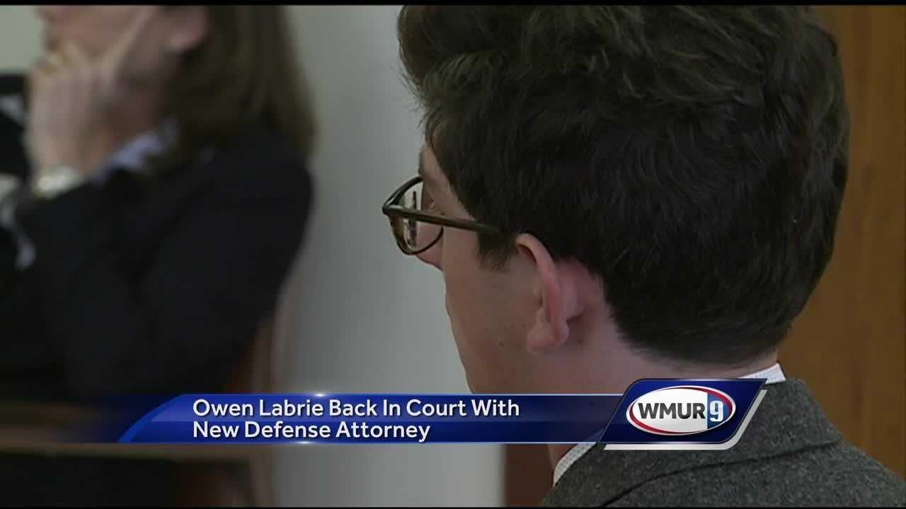 Former St. Paul's School student Owen Labrie appeared before a judge Wednesday morning with a different defense attorney by his side.