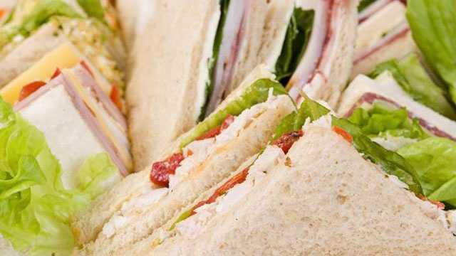 sandwich platter sandwiches food