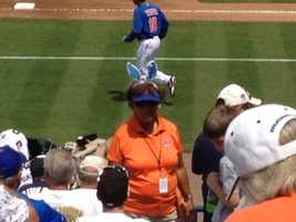 This Mets fan is all decked out in the spirit of Easter. (Angela Rozier/WPBF)