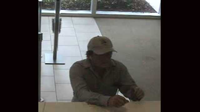 The FBI says this man robbed a Wells Fargo branch in Coral Springs.