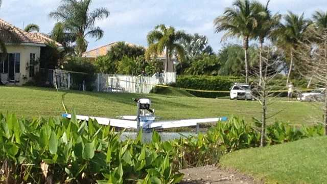 This sea plane made an emergency landing in the Crystal Bay community. (Ari Hait/WPBF)