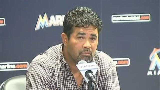 Miami Marlins manager Ozzie Guillen apologies for his remarks about Fidel Castro.