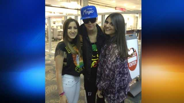 Justin Bieber with Alexa D. and Melissa O.