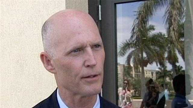 Gov. Rick Scott, seen here in West Palm Beach in May, said he was asked in 2006 to cast a provisional ballot because election officials thought he was dead.
