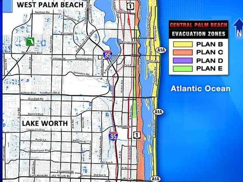 Evacuation Maps for Palm Beach County