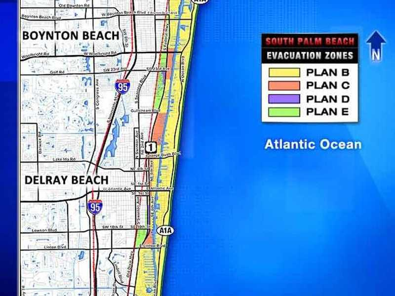 Evacuation Maps for Palm Beach County