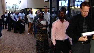 041812 378 Generic Job Fair, Careers, Long Lines