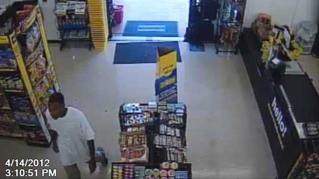 The Palm Beach County Sheriff's Office is trying to identify this man who snatched a gold necklace from a shopper at the Dollar General in Lake Worth.