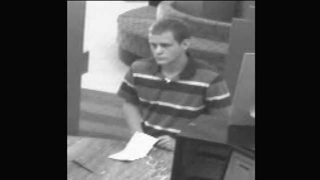 The FBI says this man robbed a Bank Atlantic branch on Military Trail in Deerfield Beach.