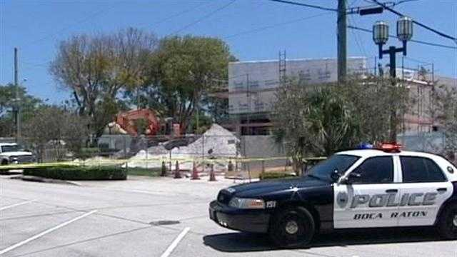 A construction worker finds an explosive device while on the job in Boca Raton.