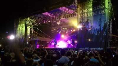 Passion Pit pleases their youthful audience Friday night at SunFest. (Peter Burke/WPBF)