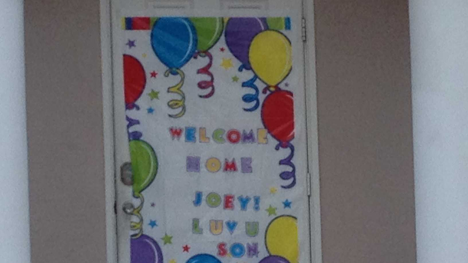Family and friends plan a welcome home celebration for Joey Yanucci. (Angela Rozier/WPBF)