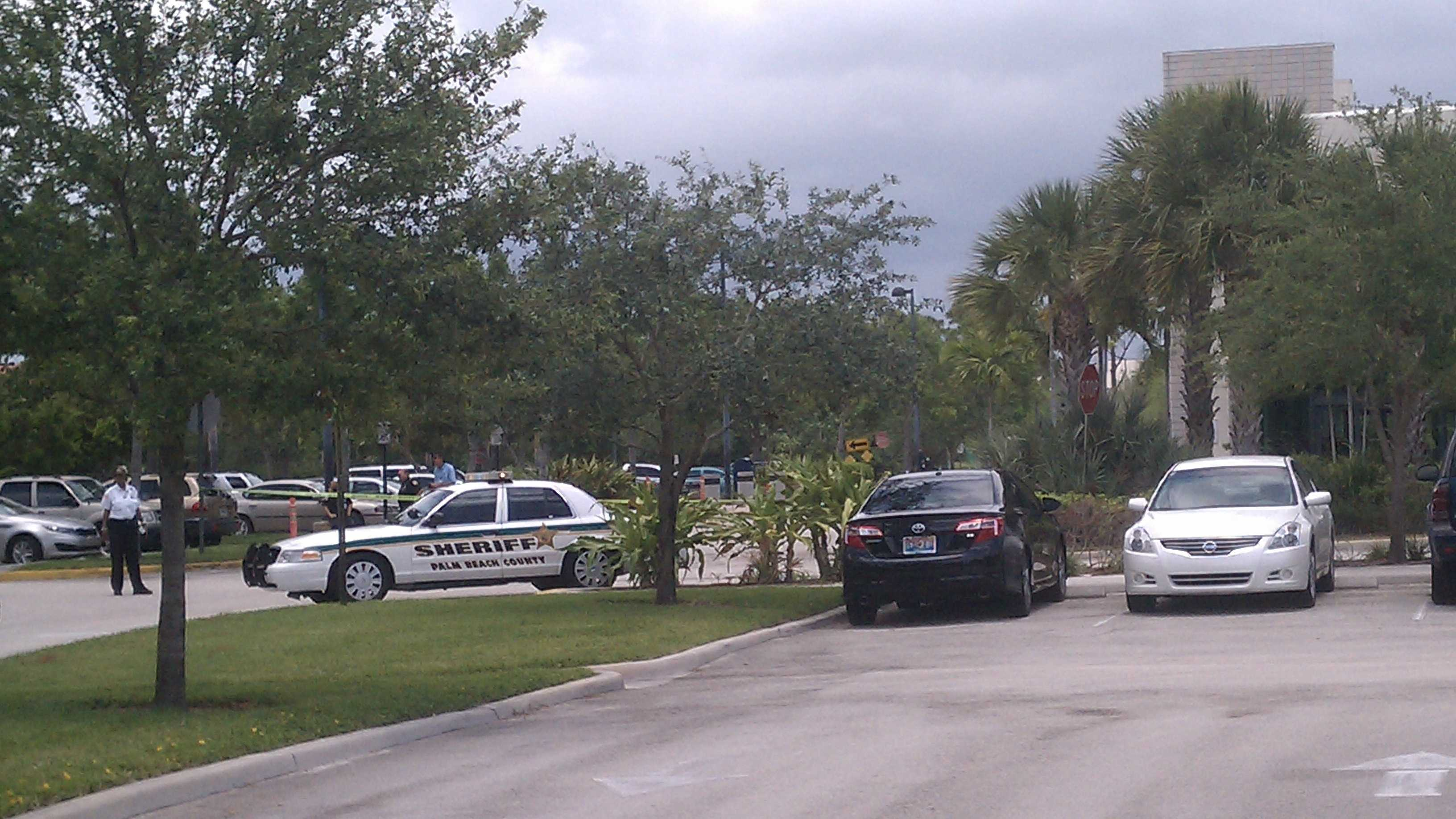 The North County Courthouse was evacuated Friday because of a bomb scare. (Peter Burke/WPBF)