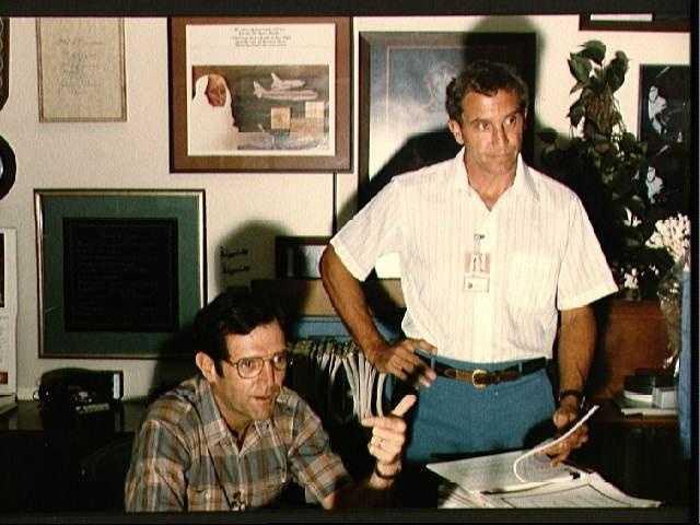 Astronauts Michael Smith and Dick Scobee