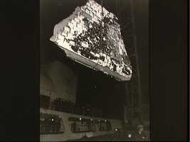 Wreckage from the Shuttle mission 51-L mission retrieved from the Atlantic
