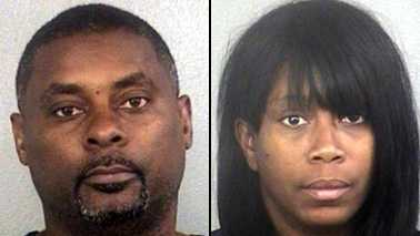 Sean Maxwell, 44, and his wife, Lorina Flint, 42, are accused of stealing bags from Fort Lauderdale-Hollywood International Airport and Miami International Airport on at least five separate occasions.