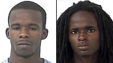 Jarmorey Canty (left) and Alexander Clark were arrested on drug possession and trafficking charges.