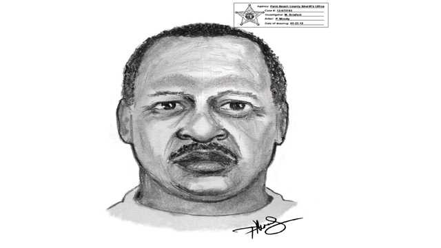 This is a sketch of a man who recently tried to lure two students into his car. (Courtesy of Palm Beach County Sheriff's Office)