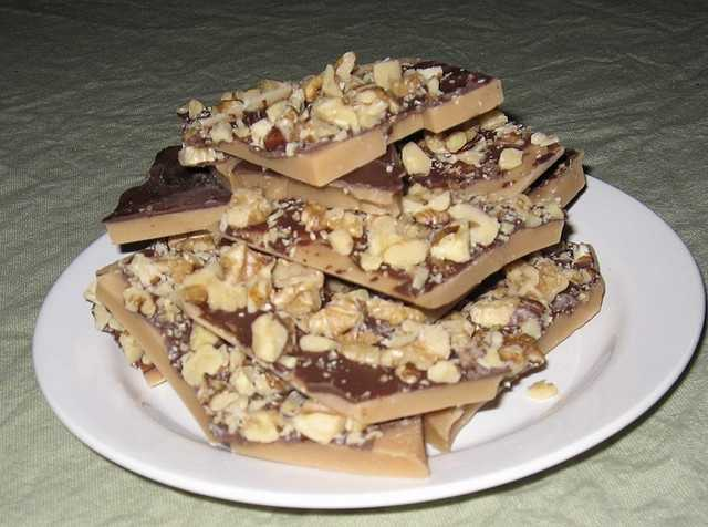 June 29th is National Almond Butter Crunch Day. (Ruthieki/flickr)