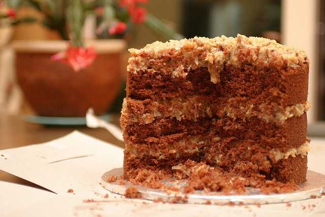 June 11th is National German Chocolate Cake Day. (brungrrl/flickr)
