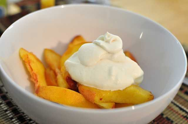 June 21st is National Peaches and Cream Day. (mhaithaca/flickr)