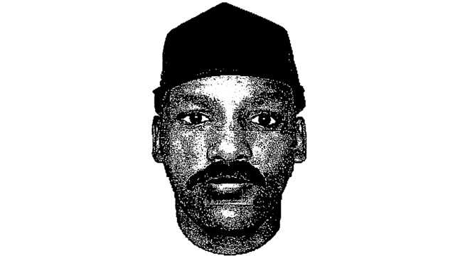 This is the sketch of a man who pointed a gun at a woman's head and demanded money from her outside Seacoast National Bank.
