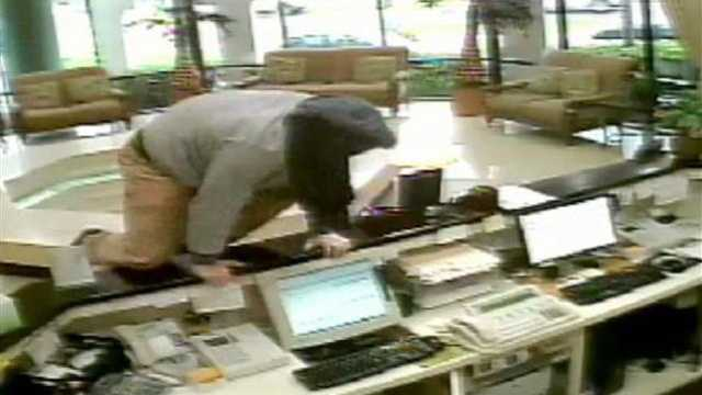 Police are trying to identify a man who robbed the Boca Raton Plaza Hotel.