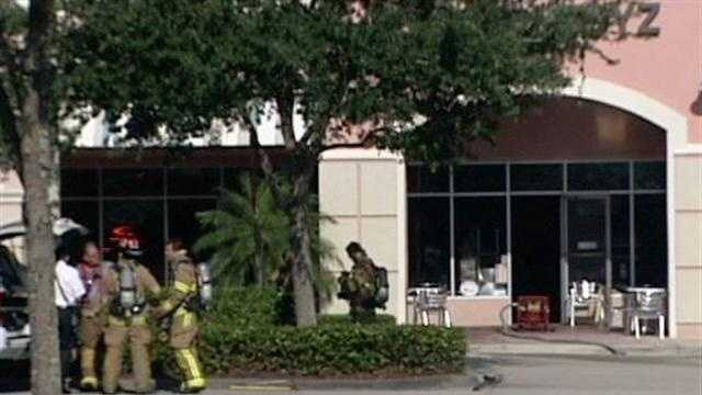 Firefighters were called to a kitchen fire at the Bagel Boyz in Jupiter on Monday morning.