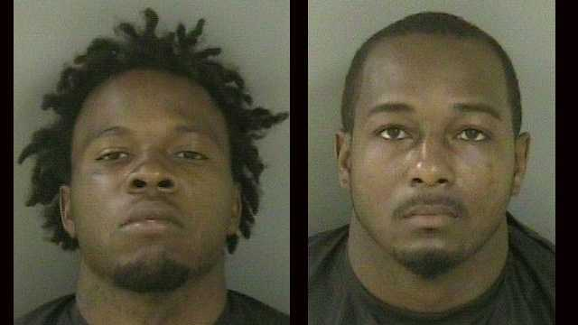 Indian River County sheriff's deputies arrested Torrevio Ealy (left) and Jamard Lee on drug charges.