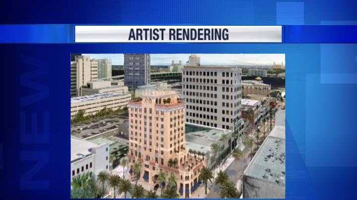 Artist's Rendering of hotel