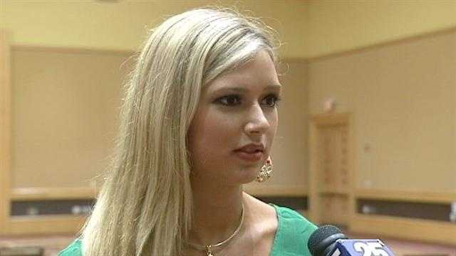 Connor Boss, 18, is a legally blind contestant in the Miss Florida USA pageant from Royal Palm Beach.