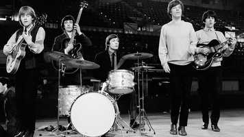 """The Rolling Stones, pictured here in 1964, performed together for the first time July 12, 1962, at the Marquee in London. Billed as """"The Rollin' Stones,"""" the original lineup consisted of lead singer Mick Jagger (second from right), Keith Richards (far right) and Brian Jones (far left) on guitar, Dick Taylor (not pictured) on bass guitar and Ian Stewart (not pictured) on piano. Bill Wyman (second from left) joined the band as a bassist in December 1962 and Charlie Watts became the band's drummer in January 1963."""