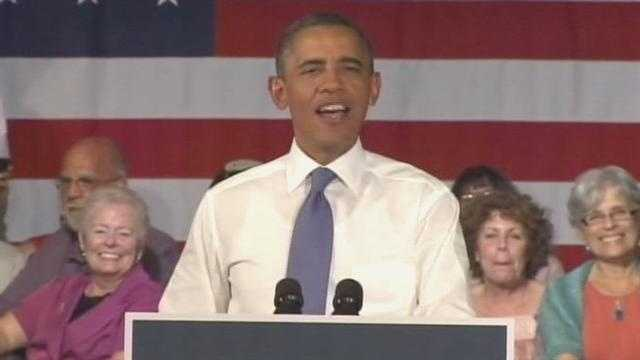 President Barack Obama speaks to seniors at Century Village.